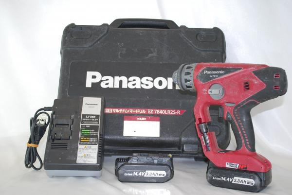 パナソニック マルチハンマードリル EZ7840LR2S-R 赤 中古品 A