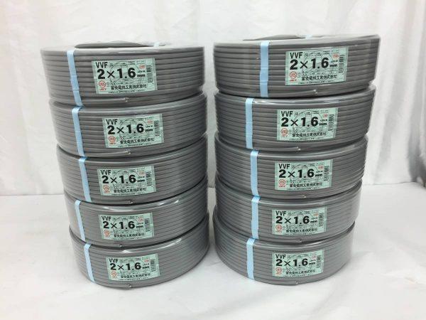 10巻セット 富士電線 VVF ケーブル 2×1.6mm 100m