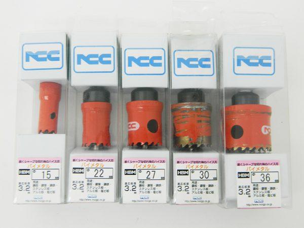 ニコテック NCC ホールソー バイメタル HBM φ15~36mm 5点セット ハイス刃 中古品
