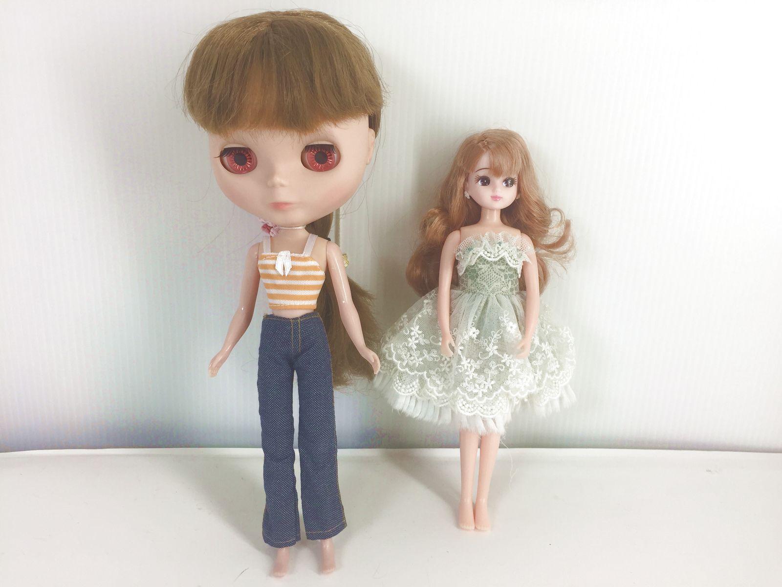 リカちゃんとブライスの服のサイズが同じって本当?