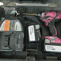 日立工機 コードレスインパクトドライバ WH14DBAL2 14.4V パワフルレッド 中古品